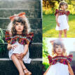 US Kids Toddler Baby Girl Ruffles Dress Princess Party Boho Hippy Floral Dresses