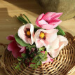 Artificial Flowers Silk Flowers Artificial Yulan Magnolia Bouquet for Home Bridal Wedding Party Festival Bar Decor