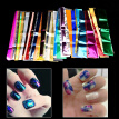 Greensen Nail Art Wrap Foils Transfer Decal,50Pcs Nail Art Foils Transfer Glitter Sticker Polish Decal Manicure Decoration Tool