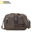 National Geographic Messenger Bag Male Sports Casual Shoulder Bag Environmental Bag RFID Information Anti-theft System Khaki