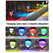 2 Packs Stainless Steel Solar Light IP65 Waterproof Outdoor Landscape Light with 7 Color Changing and 2 Modes Setting Perfect Deco