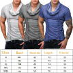 Fashion Mens Summer Casual T-Shirts Short Sleeve Slim Fit T-Shirts Workout Tee