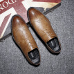 Large size shoes, formal wear business casual shoes, male England black work shoes