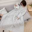 Siaonvr Multifunction Winter Lazy Quilt With Sleeves Warm Thickened Washed Pillow Blanke