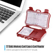 Viltrox CP100-3.0USB 2in1 USB3.0 22 Slots Memory Card Reader Card Case Carrying Storage Box Holder for Micro SD(TF) CF SD Cards