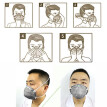 3M 8247 Mouth Mask Half Face R95 Head-mounted Masks Activated Carbon Against Organic Vapor Odor Smoke Particulate 20PCS