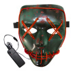 BRELONG Halloween Mask Green Full Blood Horror EL Cold Light for Make-up Party