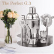 7pcs Bar Tool Cocktail Shaker Stainless Steel Stand Bartender Kit Jigger Opener Shaker Tong Drink Mixing for Parties Bar