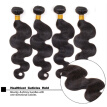 Human Natural Black Curly Hair High-Temperature Fibre Unprocessed Human Hair Weave Weft Extensions