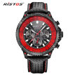 Large dial watch male three-eye alloy belt men's watch belt waterproof watch