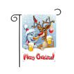 Christmas Series Garden Flag Cartoon Printed Decorative Hanging Banner For Outdoor Yard Lawn Patio Porch Decor 2020 New Year