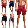 Mens Underwear Satin Boxers Shorts Pyjamas Sleepwear Nightwear Pants Gift