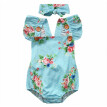 Baby Girl Floral Romper Newborn Headband Jumpsuit Bodysuit Clothes Outfits set