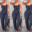 Sexy Women Navy Stripe Sleeveless Vest Tops Jumpsuit Playsuit Trousers Romper