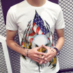 (Toponeto) Men New Independence Skull 3D Printed T Shirt Plus Size S-3XL Cool Printing