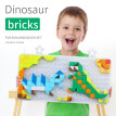 Gotoamei 222pcs Plastic Dinosaur Puzzle Fun DIY Building Block Set Multi-color Kids Toys