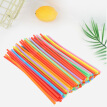 Greensen 100PCS Colorful Plastic Bendable Drinking Straws Disposable Beverage Straws Mixed Colors, Drinking Straw,Straw