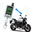 2 Way Motorcycle Alarm System with Remote Engine Start Remote Transmitter Shock Sensor Anti-Theft Security System LCD Display DC12