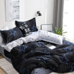 Black star Bed Linens High Quality 3/4pcs Bedding Set duvet Cover Flat bed sheet pillowcase soft Twin Single full queen king