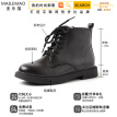 Autumn black breathable martin boots female English students Korean version of Joker Victoria Christina Hesketh short cylinder ins