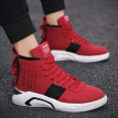 men's shoes, summer 2019 new style of casual power, autumn social spirit small group, red high-help canvas skate shoes