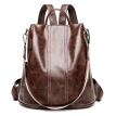 Women's bag leather large capacity outdoor travel backpack
