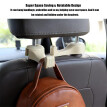 2-in-1 Universal Car Hook Mobile Phone Holder Bracket Auto Vehicle Car Backseat Headrest Mount Organizer Back Seat Hanger Holder H