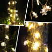 10 LED Snowflake Wedding Xmas Party Decor Outdoor Fairy String Lamp