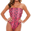 Roseonmyhand Women's Sexy Snakeskin Wrap Swimsuit Bikini Beach Dress One-piece Swimsuit