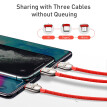 Baseus 3 in 1 USB Type C Cable  for iPhone 11 Charger Cable USB Type C for Samsung  Huawei xiaomi