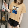 T shirt Women Summer Girls Harajuku Printed Short Sleeve O Neck Tops Polyester Casual Loose Women Tshirt