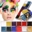 Siaonvr 12 Colors Body Face Oil Painting Paint Pigment for Beauty Kit Makeup Cosmetic
