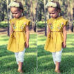 US Sweet Kids Toddler Baby Girl Ruffle Flower Dress Casual Clothes Outfit Summer