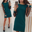 Fashion Women Long Sleeve Bodycon Short Dress Ladies Casual Party Dresses M~2XL