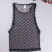 Sexy Mens Transparent Mesh Breathable Sleeveless Tight-fitting Vests Tank Tops