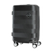 US travel trolley case 20 inch men and women business luggage PC wear-resistant design boarding mute eight round TSA lock GF6 black