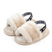 Autumn Winter Soft Hair Style Classic Baby Girl Slipper Sandals Breathable Baby Fur Shoes Simple Elastic Sandals princess Baby S