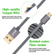 Micro USB cable, Kiirie Durable Charging Cables ( 2x3.3ft/1M) with Nylon Braided and 6000+ Bend Lifespan for Android/Samsung/Windo
