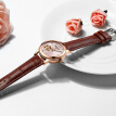 Trend lady mechanical watch luminous waterproof leather strap female student watch