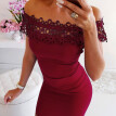 Sexy Lace Patchwork Hollow Out Mini Dress Female Summer Sleeveless Bodycon Dresses Casual Party Dress Women Vestidos