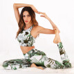 Roseonmyhand Women's Digital Printing Vest Trousers Sports Suit Yoga Pants Fitness Suit