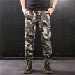 SQSI 2019 spring and summer new camouflage guard pants Slim-legged elastic waist tie trousers 4951