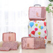 6Pcs/Set Portable Luggage Travel Bag Ladies Clothes Underwear Sorting Organizer Large Capacity Packaging Accessories Pink