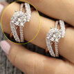 14K Solid Rose Gold Round Diamond Jewelry Anniversary Gift Party Bridal Engagement Wedding Rings