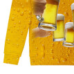 (Toponeto) Men's Casual Long Sleeve Beer Festival New Style 3D Printing O Neck Shirt