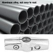 Greensen Aluminum Alloy 3-way 25mm Rotatable Round Pipe Fitting Connector for Furniture Rack