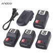 Andoer 16 Channel Wireless Remote Flash Trigger Set 1 Transmitter + 4 Receivers + 1 Sync Cord for Canon Nikon Pentax Olympus Sigma