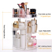 Fashion Spinning Cosmetic 360° Rotating Lipstick Makeup Holder Organizer Rack Storage Box