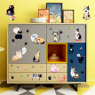 〖Follure〗DIY Cats Party TV Background Wall Decoration Removable Wall Stickers