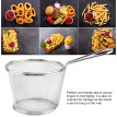 Greensen Mini Stainless Steel Chips Deep Fry Baskets Food Presentation Strainer Potato Cooking Tool, Fry Baskets, Fries Basket